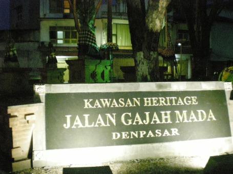 Persimpangan ujung Barat Jln. Gajah Mada (Foto Darma Putra).