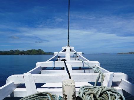 Laut biru, menuju Pulau Komodo (Darma Putra, April 2015)