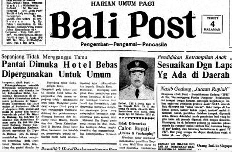 Bali Post, Senin, 13 Oktober 1975.