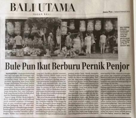 Kliping Radar Bali, 9 Februari 2016.