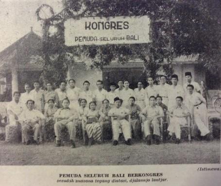 Kongres Pemuda Bali di Denpasar. Foto Repro Majalah Merdeka, diambil dari tulisan Suryadi di Bali Post Minggu, 20 Maret 2016.