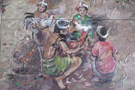 bagian dari lukisan di The Royal Pita Maha, Kedewatan, Ubud.